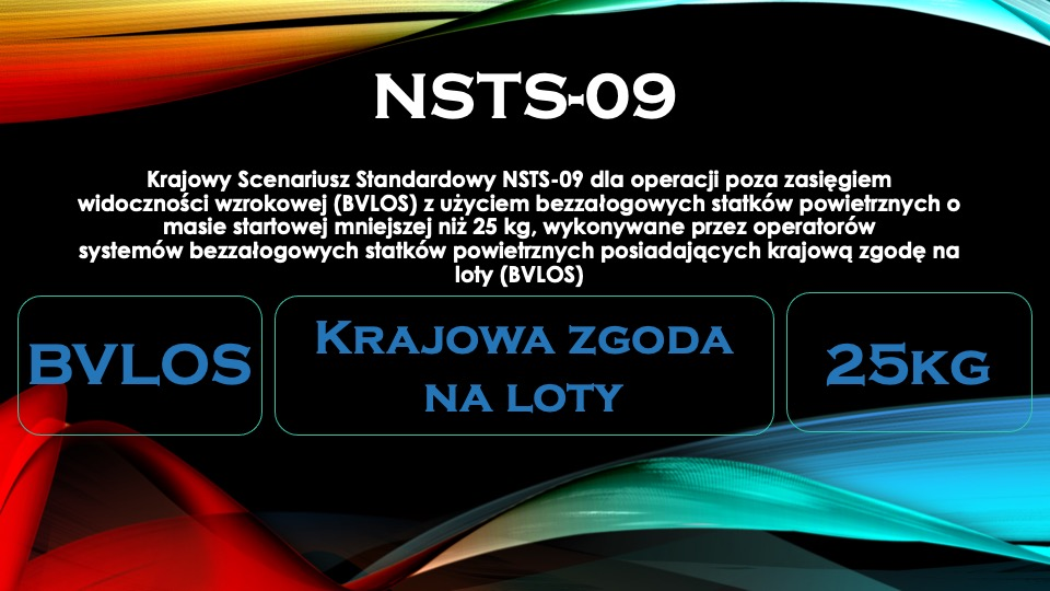 NSTS 09 BVLOS krajowe zgody naloty 25kg