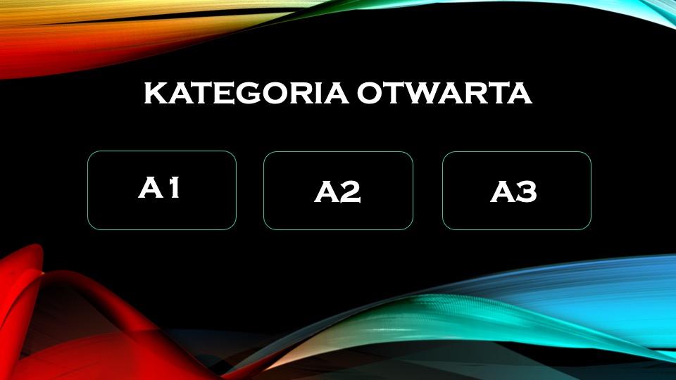 kategoria otwarta a1 a2 a3
