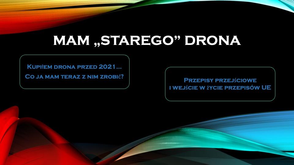 mam starego drona nowe przepisy